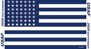 "2020 calendar banner ""USAF"" by PACHI"