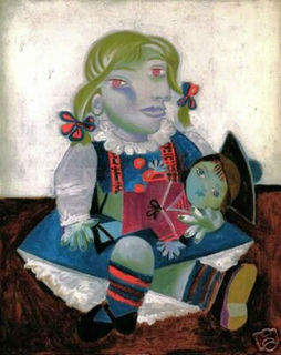 Maïa with Sailor Doll by Pablo Picasso
