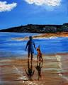 As they walked together on the shores of the sea, by Eli Gross