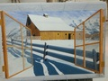 Ventana y granja nevada by Laureano TROITIÑO