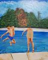 Homage to David Hockney by Eli Gross