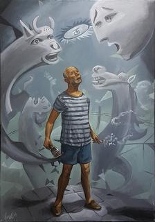 "Pablito in the Guernica by Carlos Cenoz Bermejo ""Dino"""