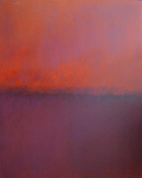 Warm Orange Steaming (an end of day light) from Chiaroscuro Series by Paul Hughes