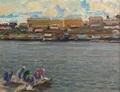 On Kineshemka river by Vasiliy Strigin