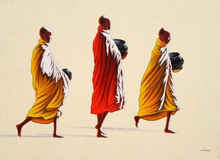 Towards Monastery 2 by Min Wae Aung