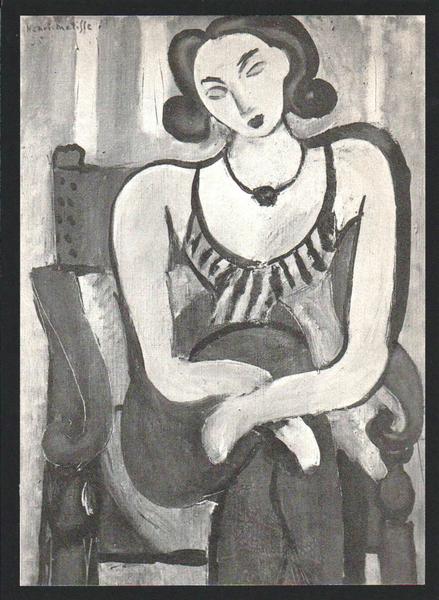 FIGURE AU CORSALET (aka CORSETTED FIGURE) by Henri Matisse