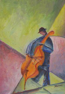 Bassist by Jan Hinais