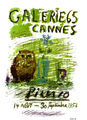 Cannes 1956 affiche by Pablo Picasso