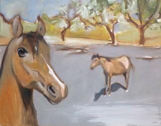Horses on Gray by Scott Andrew Spencer
