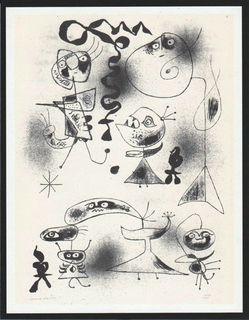 Barcelona 1, listed Mourlot 6 by Joan Miró