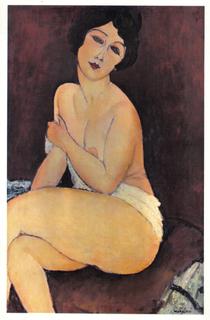 NU ASSIS (aka Seated Nude) by Amedeo Modigliani