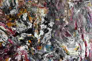 Abstract Painting OF-A443 Fragment 2 by Oleg Frolov