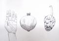 Hand and fruits by Ángela Gómez Perea
