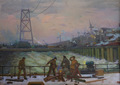 The builders of the Volga hydroelectric station by Vasiliy Strigin