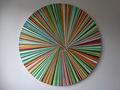 Fragmented Circular Canvas Orange by Emily Beza
