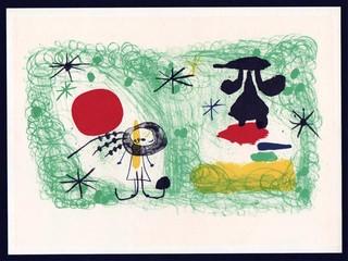 Personaje en un jardin #1, aka person in the garden, 1951 by Joan Miró