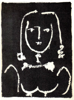 Head of a Woman, on Black by Pablo Picasso
