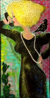 Chattering woman by STELLA Lobanova