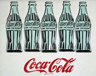 Five Coke Bottles by Andy Warhol, 1962 by Andy Warhol