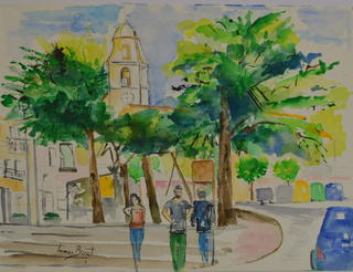 PLAÇA DE ROCAFORT DE QUERALT (TARRAGONA ) by Imma Banet Illa