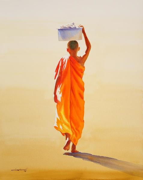 Towards Monastery 7 by Min Wae Aung
