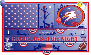 """UNITED STATES NFL banner """"GUARDIANS of the NIGHT"""" by PACHI"""