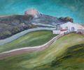 Farmhouse on a hill. by Fernando Gomila