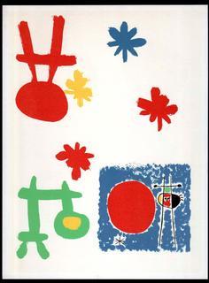 Mourlot 69. 1948 edition Derrière le Miroir 14 - 15 by Joan Miró