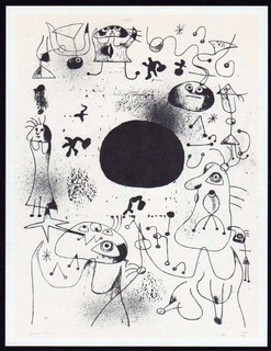 Barcelona III, listed Mourlot 8 by Joan Miró
