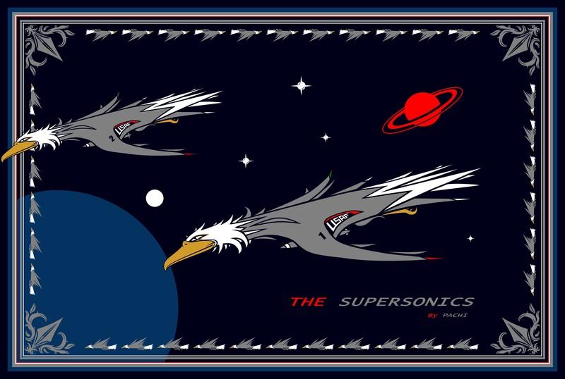 "United States of America ""USAF"" banner (size XXXXXXXL) by PACHI"