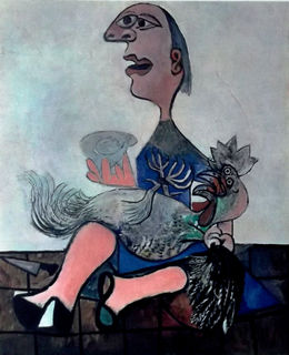 Girl with a Hen by Pablo Picasso