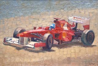 Ferrari hits the Sun by Pip Todd Warmoth