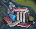 Still life with books. by Fernando Gomila