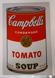 Campbell's Soup 1: Tomato, 1968, by Andy Warhol. by Andy Warhol