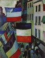 Street decked with flags by Raoul Dufy