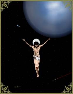 Crucified Christ - banner - (size 40 XL) by PACHI