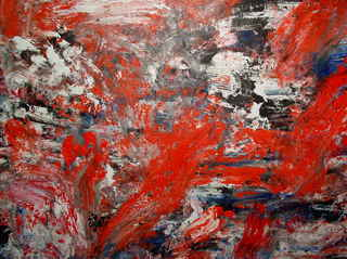 Abstract Painting OF-A438. Fragment by Oleg Frolov