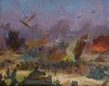 The fight near Kuzmichi by Vasiliy Strigin