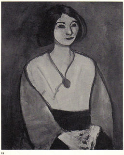 La dame en verte, 1909 (aka The lady in green) by Henri Matisse