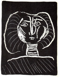 Head of a Woman on Black by Pablo Picasso