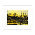 oil fields by Donald Sultan