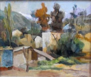 """Landscape"" by Diego Rivera"