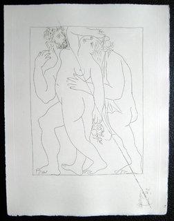 Vertumne Poursuit pomone de son amour by Pablo Picasso