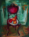 Red chair by Ana Gelashvili