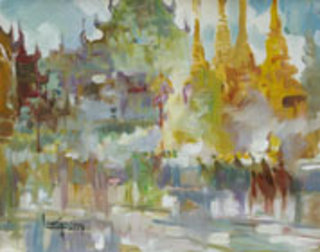 At Shwedagon by U Lun Gywe