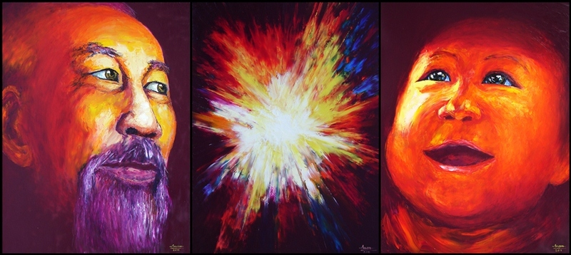 SMILE Triptych by Tran Tuan