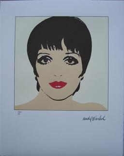 Andy Warhol Lithograph signed numbered Liza Minnelli yellow by Andy Warhol