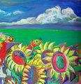 TUSCANY FLOWERS SUN by Raquel Sarangello