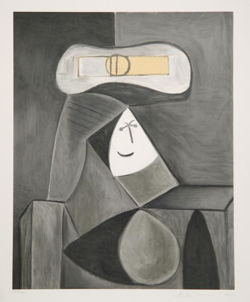 Femme au Chapeau Gris Original Art by Picasso Estate Collection ...