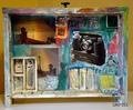 Rainbow (mixed media on wooden box). Grifoll 09. by josep grifoll casas